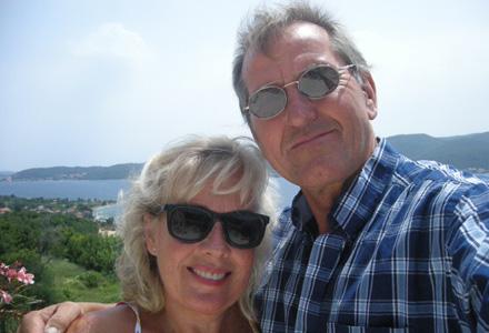 Lene und Ulli auf der Terrasse in Viganj